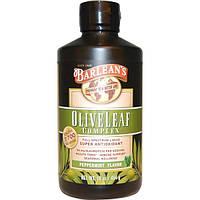 Barleans, Комплекс листьев оливы, со вкусом перечной мяты, 16 унции (454 г)