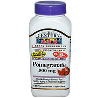 21st Century, Гранат, 500 мг, 120 капсул