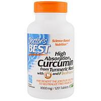 Doctors Best, Куркумин C3 с Биоперином, 1000 мг , 120 таблеток