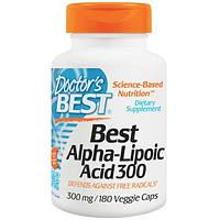 Doctors Best, Альфа-Липоевая кислота, 300 мг, 180 капсул