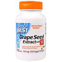 Doctors Best, Экстракт из виноградных косточек с MegaNatural-BP, 150 мг, 120 вегетарианских капсул