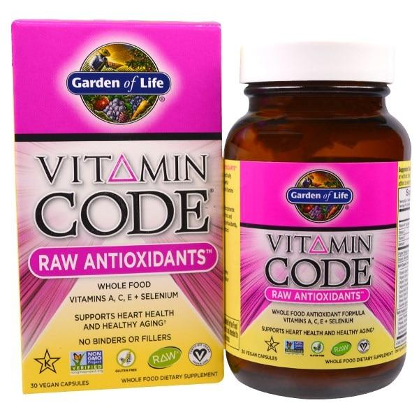 Garden of Life, Vitamin Code, Необработанные антиоксиданты, 30 растительных капсул UltraZorbe