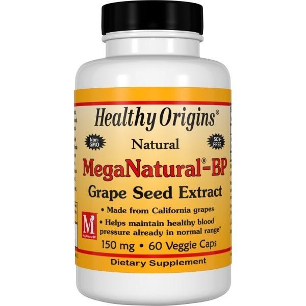 Healthy Origins, Экстракт виноградных косточек MegaNatural-BP, 150 мг, 60 капсул