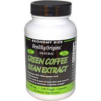 Healthy Origins, Экстракт зеленых кофейных бобов, 400 мг, 120 растительных капсул