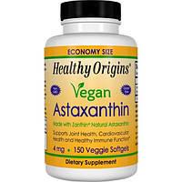 Healthy Origins, Веганский астаксантин, 4 мг, 150 вегетарианских гелевых капсул