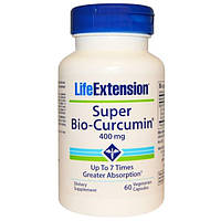 Life Extension, Супер био-куркумин, 400 мг, 60 вегетарианских капсул