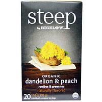 Bigelow, Steep, Organic Dandelion & Peach, Rooibos & Green Tea, 20 Tea Bags, 1.18 oz (33 g)