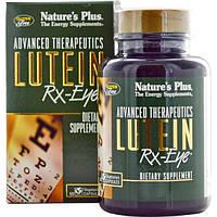 Natures Plus, Advanced Therapeutics, Лютеин для Зрения, 60 растительных капсул