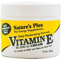 Natures Plus, Крем с витамином E, 30,000 МЕ, 2,2 унции (63 г)