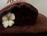 Махровая простынь коричневая 175х200 Пакистан