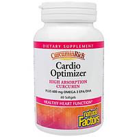 Natural Factors, Куркуминовое богатство, пищевая добавка для оптимизации здоровья сердца, 60 капсул в растительной оболочке