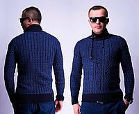 Теплый свитер мужской с интересным горлом (3 цвета)