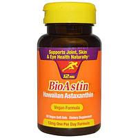 Nutrex Hawaii, BioAstin, Гавайский астаксантин, 12 мг, 50 веганских капсул