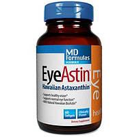 Nutrex Hawaii, EyeAstin, с чистым натуральным астаксантином, 60 мягких капсул