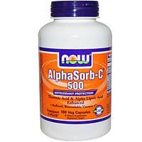 Now Foods, Альфасорб-C 500, 180 капсул на растительной основе