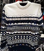 Мужской теплый свитер с узором в расцветках