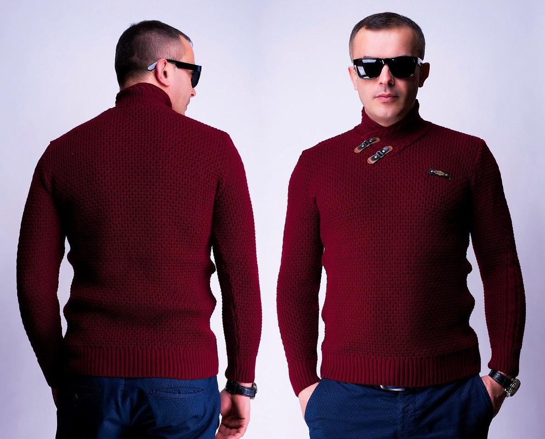 c674536acd8dc Модный мужской свитер с оригинальным горлом (6 цветов) - IBERIS в Харькове