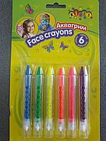 Краски аква грим в карандашах 6цв НЕОН 7765