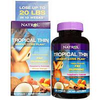 Natrol, Tropical Thin, Программа по снижению веса с кетонами малины и африканским манго, 60капсул