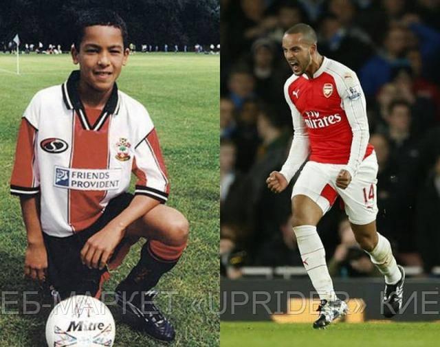 Знаменитые футболисты в детстве и сейчас