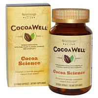 ReserveAge Nutrition, CocoaWell, цельное какао с комплексом чистого растительного флаванола, 60 вегетарианских капсул
