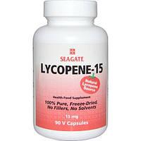 Seagate, Ликопин-15, 15 мг, 90 растительных капсул