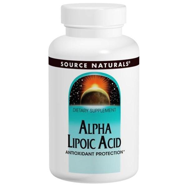 Source Naturals, Альфа-липоевая кислота, 300 мг, 60 капсул