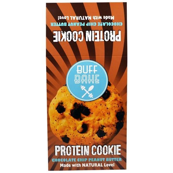 Buff Bake, Protein Cookie Печенье, Шоколадное Арахисовое Масло, 12 штук, 2,82 унции (80 г) каждый