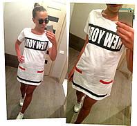 Спортивное женское короткое летнее платье туника