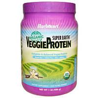 Bluebonnet Nutrition, Super Earth, органический растительный протеин, ваниль, 1 фунт (486 г)