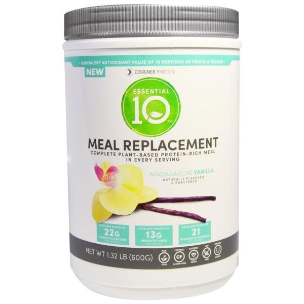 Designer Protein, Essential Q10, Meal Replacement, Madagascar Vanilla, 1.32 lbs (600 g)
