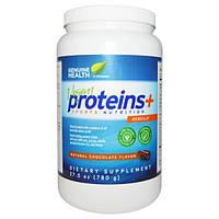 Genuine Health Corporation, Vegan Proteins+, со вкусом натурального шоколада, 27,5 унций (780 г)