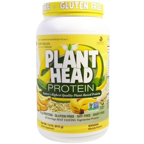 Genceutic Naturals, Белок из головок растений, банан, 1,8 фунта (810 г)