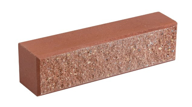 Облицовочный кирпич LAND BRICK колотый красный 250х60х65 мм