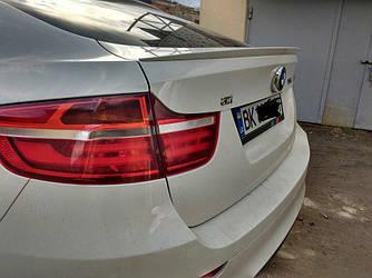 Спойлер BMW X6 E71 сабля тюнинг (стекловолокно)