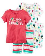 Набор хлопковых пижам Райские сны Картерс 4-Piece Snug Fit Cotton PJs