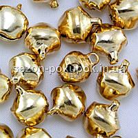Бубенчики металлические бубенцы (цена за 25шт) 10х8мм  Цвет - Красное ЗОЛОТО