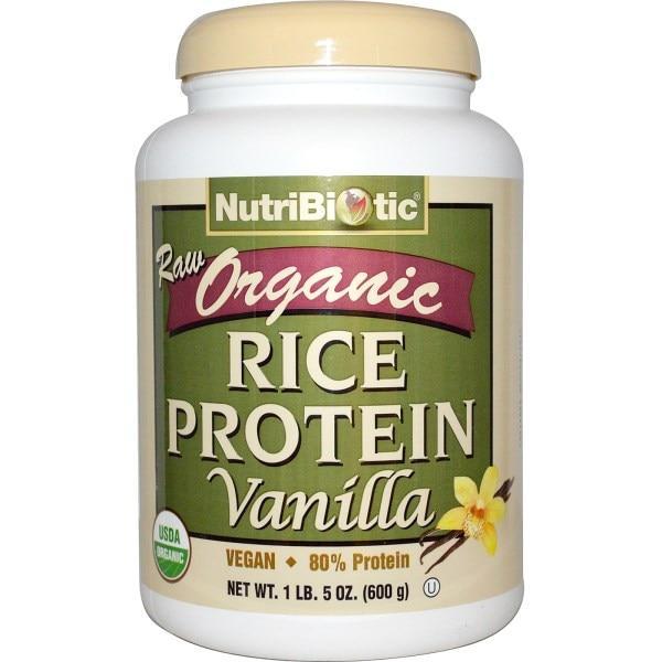 NutriBiotic, Сырой натуральный рисовый белок с ванилью, 1 фунт 5 унций (600 г)