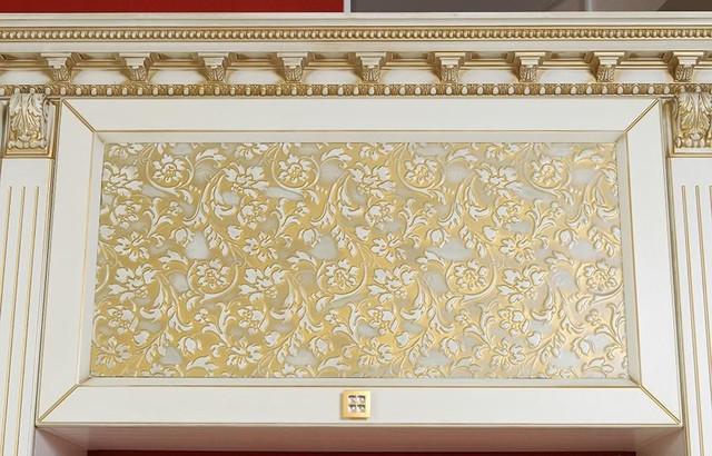 кухни ваниль с патиной золото