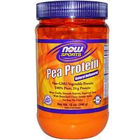 Now Foods, Гороховый белок, натуральный, без вкусовых добавок, 12 унций (340 г)