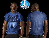 Футболка 4D принт Волк