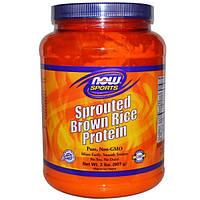 Now Foods, Sports, Белок из пророщенных зерен коричневого риса, 2 фунта (907 г)