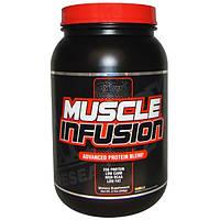 Nutrex Research Labs, Энергия мышц, усовершенствованная протеиновая смесь, ваниль, с кусочками печенья, 2 фунта (908 г)