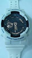 Часы мужские CASIO G-Shock GA 110 AAA качество бело-черные