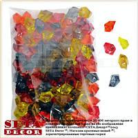 Разноцветные камни кристаллы декоративные пластик. В упаковке 145 шт.