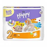 Подгузники Bella Happy Mini 2, (3-6 кг) 78 шт