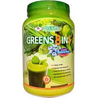Olympian Labs Inc., Greens 8 в 1, восхитительный вкус черники, 730 г