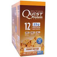 Quest Nutrition, Протеиновый порошок, аромат арахисового масла, 12 пакетиков, 30 г (1,06 унции) каждый