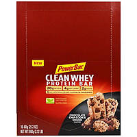 PowerBar, Clean Whey Protein Bar, Chocolate Chip Cookie Dough, 16-2.12 oz (60 g) bars (2.12 lb)