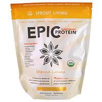 Sprout Living, Протеин Epic Protein, ваниль и лукума, 1 кг (1000 г)
